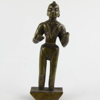 Parvati, Indien, 18./19. Jh., Bronze, Grundplatte später, eine Hand abgebrochen, Gebrauchsspuren, H: 12,5 cm, www.beyreuther.de