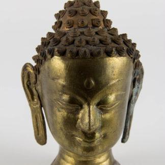 Kopf, Asien, 2. Hälfte 20. Jh., Bronze, Gebrauchsspuren. H: 12,5 cm, www.beyreuther.de
