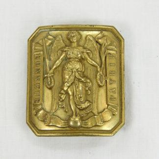 Koppelschloss, Mitte 19. Jh., Frankreich, Tambour, Trommler, guter Zustand. H: 6 cm, www.beyreuther.de