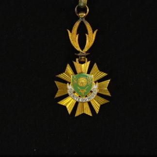 Orden, Merit du Niger, Mitte 20. Jh., Komtur, wohl Silber vergoldet?, etwas oxidiert, mit Bandschlaufe, selten. D: 4 cm, L: 10 cm, www.beyreuther.de