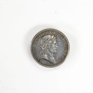 Medaille, Frankreich, Silber, sig. Gatteaux, Vorderseite Halbportrait von Napoléon, Rückseite lateinische Inschrift, Zustand: ss, D: 32 mm, www.beyreuther.de