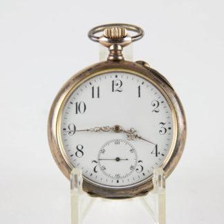 Taschenuhr, um 1890, Silber vergoldet, Grosjean Freres & Co., guter Zustand, Uhr läuft an. D: 4,8 cm, www.beyreuther.de