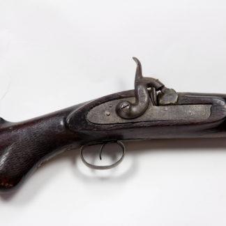 Jagdgewehr, Mitte 19. Jh., stark korrodiert, ehemals Damastlauf, Deko-Objekt. L: 111 cm, www.beyreuther.de