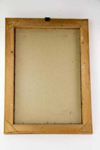 Gemälde, um 1900, Öl auf Pappe, unsigniert, winterliches Stillleben mit Äpfeln, Birnen, Nüssen und Tannenzweigen, vergoldeter Stuckrahmen, guter Zustand. B: 40 cm, H: 54 cm.