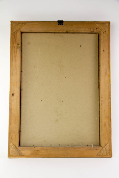 Gemälde, um 1900, Öl auf Pappe, unsigniert, herbstliches Stillleben mit Pfirsichen, Weintrauben Pflaumen und Gräsern, vergoldeter Stuckrahmen, guter Zustand. B: 40 cm, H: 54 cm.